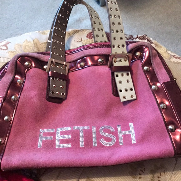 fetish Other - Fetish Pink suede and leather handbag 👛👜